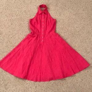 Ralph Lauren Vintage Style Halter Top Pink Dress!